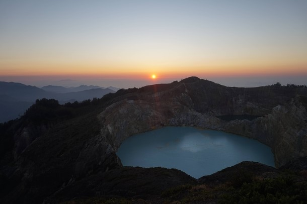 Sunrise over volcano